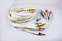EKG pacientský kabel Cardioline pro ECGxxxx, 10 svodů, 4mm kolíky