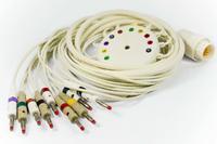 EKG pacientský kabel Cardioline pro EKG přístroje Delta a Elan, 10 svodů, 4mm kolíky