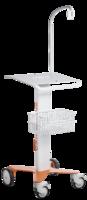 Vozík Cardioline pro ECG200 včetně nosného ramene pacientského EKG kabelu