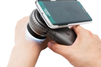 Rámeček pro připojení mobilního telefonu iPhone k dermatoskopům ILLUCO řady IDS-1100