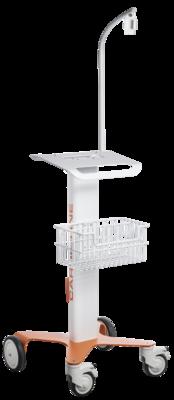 Vozík Cardioline pro ECG100 včetně nosného ramene pacientského EKG kabelu