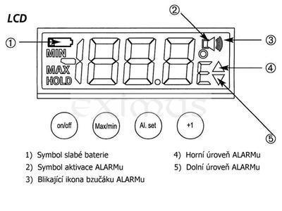 Teploměr do lednice Medicton PRAKTIK 2 s kalibrací - 2