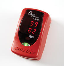 Prstový pulzní oxymetr Nonin 9590 Onyx Vantage, barva červená - 2