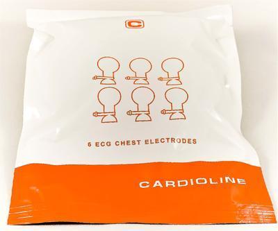 Hrudné elektródy balónikové Cardioline O 24 mm – sada 6 ks - 2