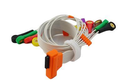 EKG pacientský kabel Cardioline HD+, 10 svodů, patentky - 2