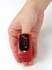 Prstový pulzní oxymetr Nonin 9590 Onyx Vantage, barva červená - 3