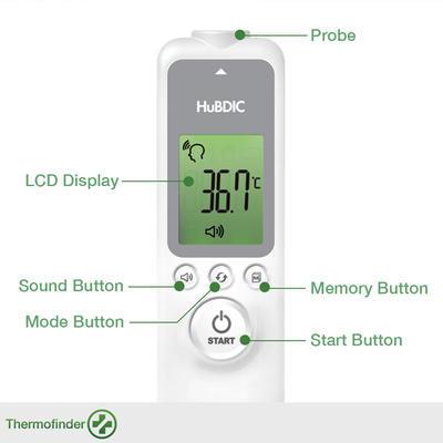 Bezkontaktní čelní IR teploměr HUBDIC HFS-1000 bez metrol. ověření - 4