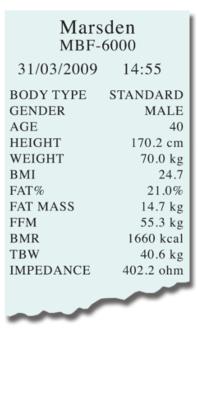 Přenosná váha pro měření tělesného složení MARSDEN MBF-6000 - 4