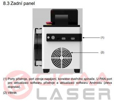 Vysokovýkonný HILT laser Firelas Gigaa, 4 vlnové dĺžky - 6