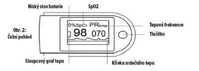 Prstový pulzný oxymeter Contec CMS-50D - 7
